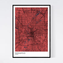 Load image into Gallery viewer, Indianapolis City Map Print