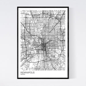Indianapolis City Map Print