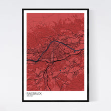 Load image into Gallery viewer, Innsbruck City Map Print