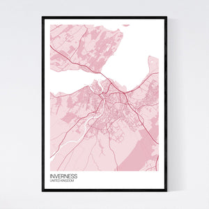 Map of Inverness, United Kingdom
