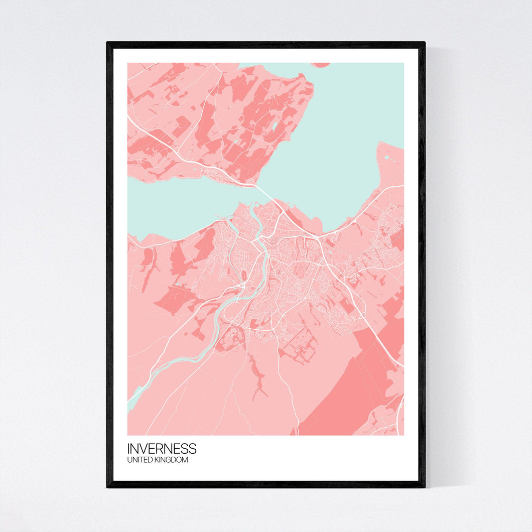 Inverness City Map Print