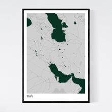 Load image into Gallery viewer, Iran Country Map Print