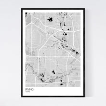 Load image into Gallery viewer, Irving City Map Print