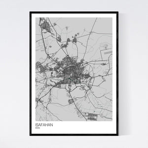 Isafahan City Map Print