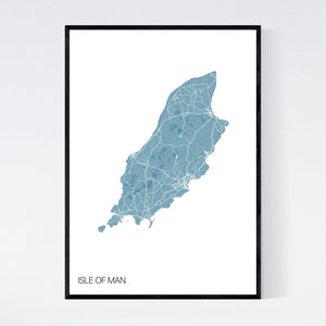 Isle of Man Island Map Print