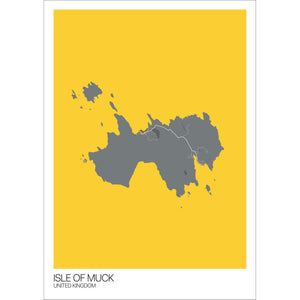Map of Isle of Muck, United Kingdom