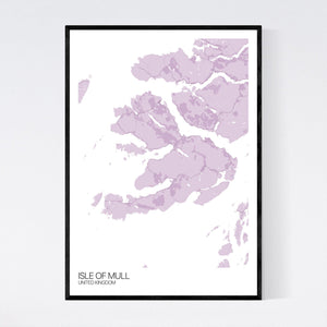 Isle of Mull Island Map Print