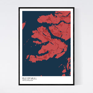 Map of Isle of Mull, United Kingdom