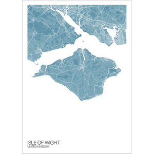 Map of Isle of Wight, United Kingdom