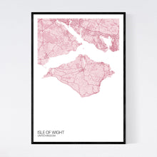 Load image into Gallery viewer, Isle of Wight Island Map Print