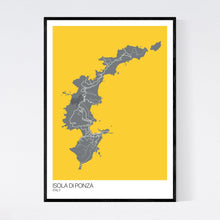 Load image into Gallery viewer, Isola di Ponza Island Map Print