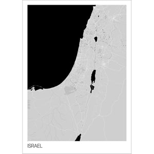 Map of Israel,