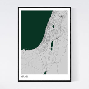 Israel Country Map Print