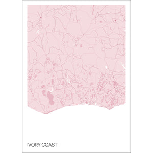 Map of Ivory Coast,
