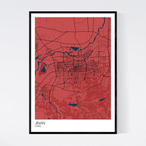 Jinan City Map Print