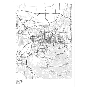 Map of Jinan, China