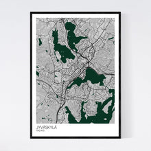 Load image into Gallery viewer, Jyväskylä City Map Print
