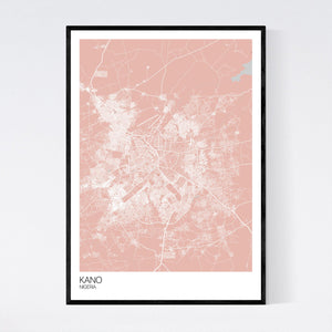 Kano City Map Print
