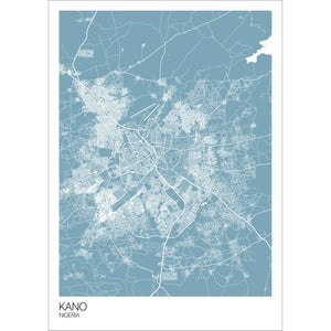 Map of Kano, Nigeria