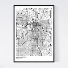 Load image into Gallery viewer, Kansas City City Map Print
