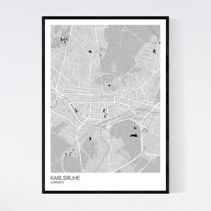 Karlsruhe City Map Print