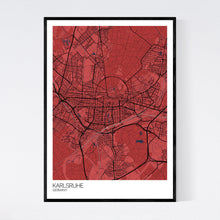 Load image into Gallery viewer, Karlsruhe City Map Print