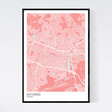 Load image into Gallery viewer, Katowice City Map Print