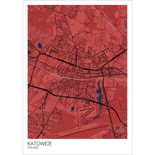 Load image into Gallery viewer, Map of Katowice, Poland
