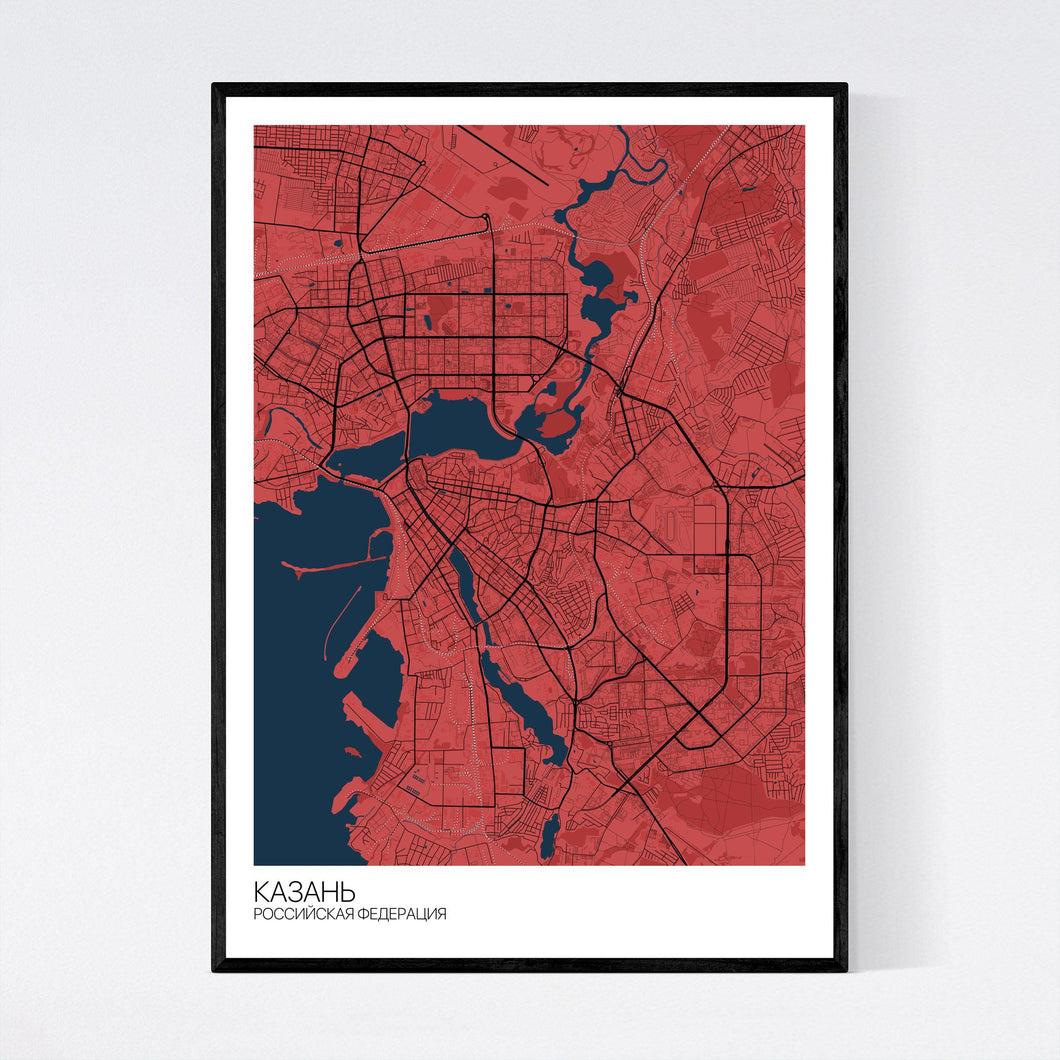 Kazan City Map Print