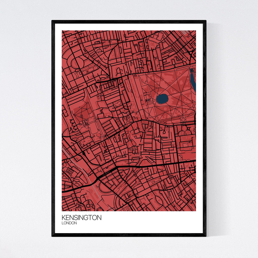 Map of Kensington, London