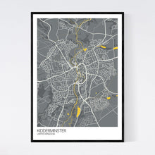 Load image into Gallery viewer, Kidderminster City Map Print
