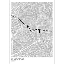 Load image into Gallery viewer, Map of Kings Cross, London