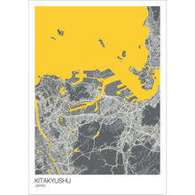 Load image into Gallery viewer, Map of Kitakyushu, Japan
