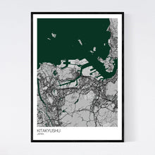 Load image into Gallery viewer, Kitakyushu City Map Print