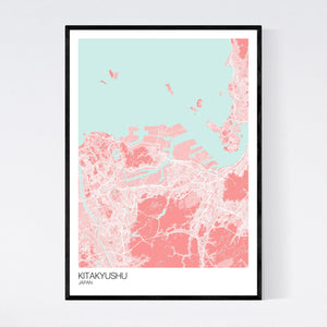 Kitakyushu City Map Print