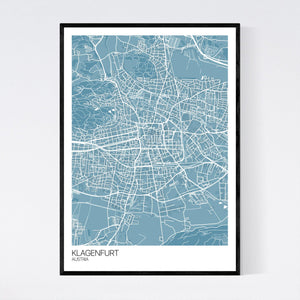 Klagenfurt City Map Print