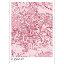 Load image into Gallery viewer, Map of Klagenfurt, Austria