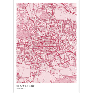Map of Klagenfurt, Austria