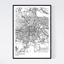 Load image into Gallery viewer, Klagenfurt City Map Print