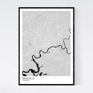Knoxville City Map Print