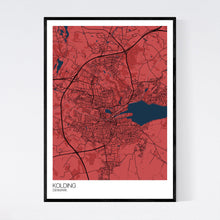 Load image into Gallery viewer, Kolding City Map Print