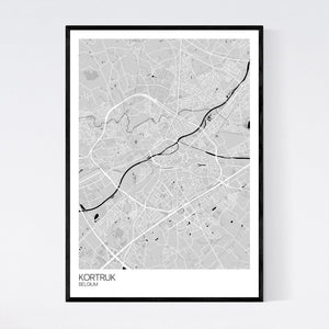 Kortrijk City Map Print
