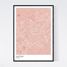 Load image into Gallery viewer, Kortrijk City Map Print