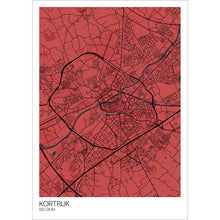 Load image into Gallery viewer, Map of Kortrijk, Belgium