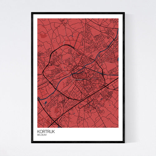 Map of Kortrijk, Belgium