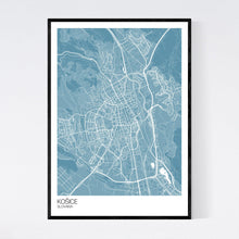 Load image into Gallery viewer, Map of Košice, Slovakia