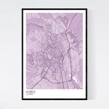 Load image into Gallery viewer, Košice City Map Print