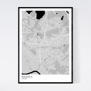 Kouvola City Map Print