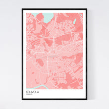 Load image into Gallery viewer, Kouvola City Map Print