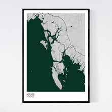 Load image into Gallery viewer, Krabi Region Map Print
